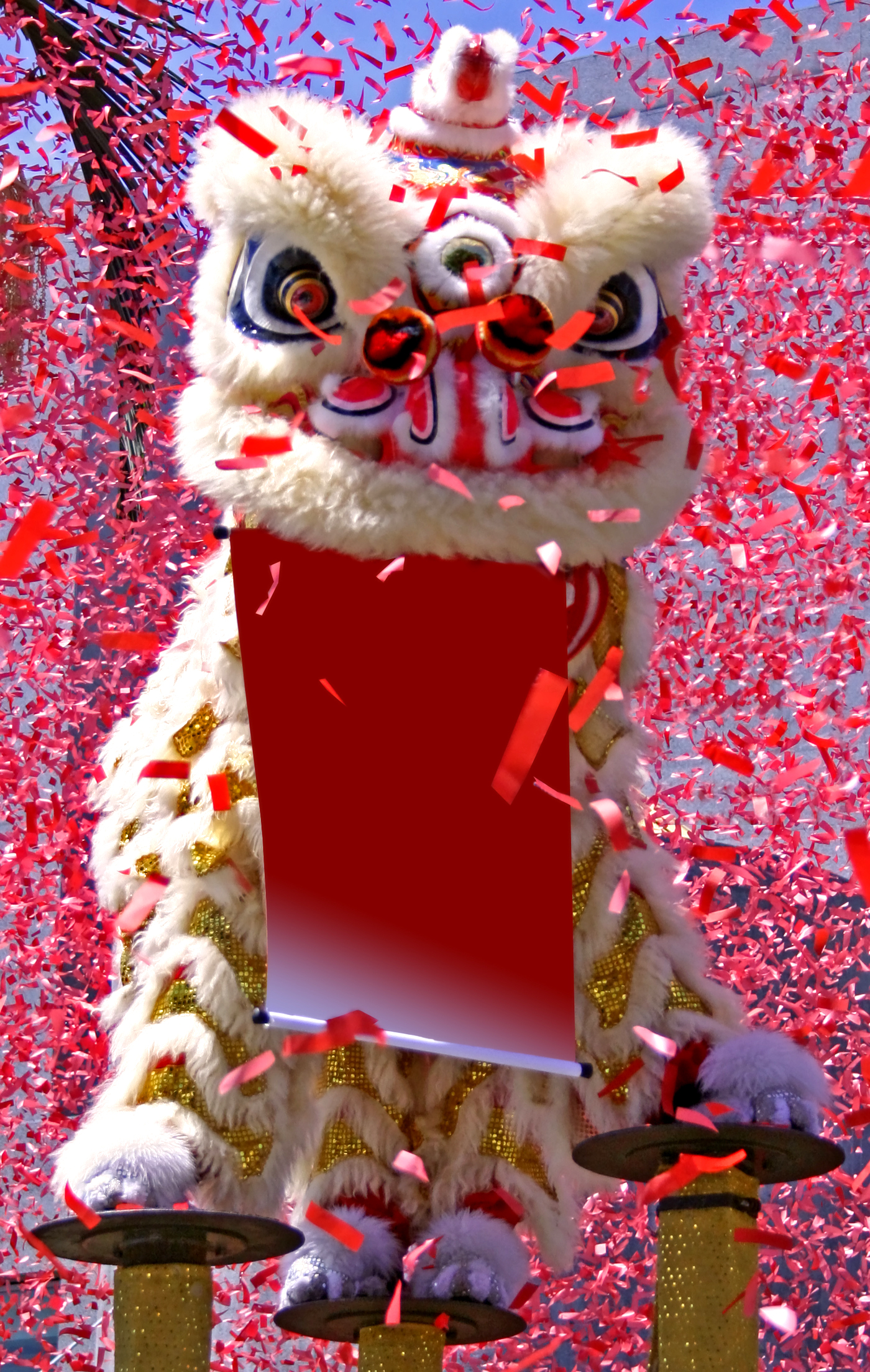 Uncategorized Chinese New Year Lion chinese new year rice paper kite a festive lion dance during parade