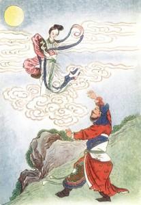 Chang E flies to the moon