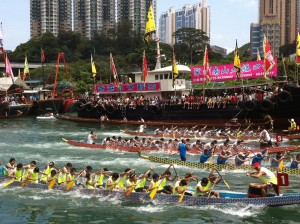 A dragon boat race in Hong Kong. Photo by Atmhk