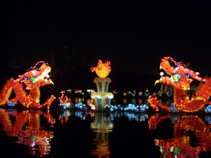 Colorful Mid-Autumn Festival decorations in Beijing. Photo by Shizhao